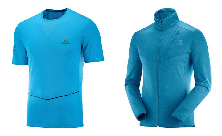 Tekaška oblačila: majica in pulover Salomon